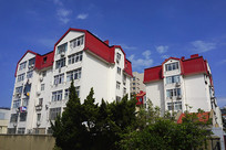 青岛市红瓦蓝天建筑景观