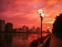 广州晨光霞满天