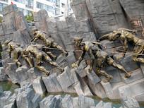 巫山圣泉公园川江号子城市雕塑