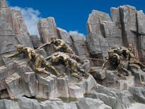 重庆巫山圣泉公园川江号子雕塑