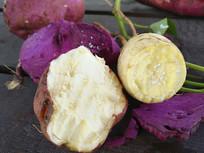 白心红皮红薯素材