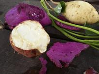 地瓜和紫薯