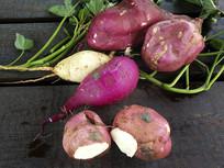 地里鲜红薯