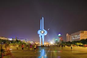 济南泉城广场地标建筑