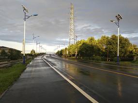 雨天道路素材