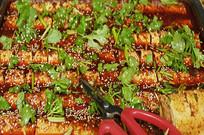 成都锦里小吃-麻辣豆皮