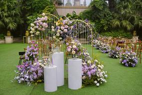 户外婚庆草坪-西式婚礼布置