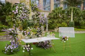 户外婚庆草坪-西式婚礼现场布置