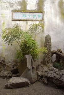苏州留园花步小筑园林造景