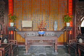 苏州留园鸳鸯厅室内家具陈设