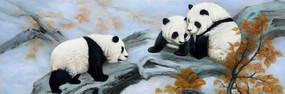 大熊猫油画