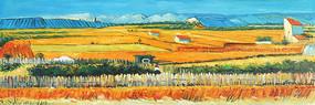 田園豐收風景油畫