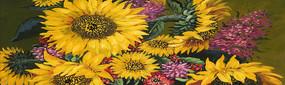 向日葵油画
