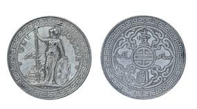 1911年的足银外国银币站洋