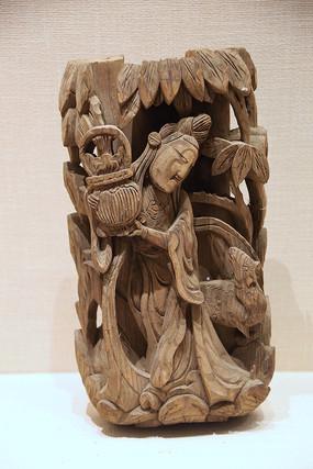 八仙人物木雕构件
