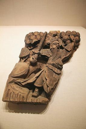 明代木雕人物压方