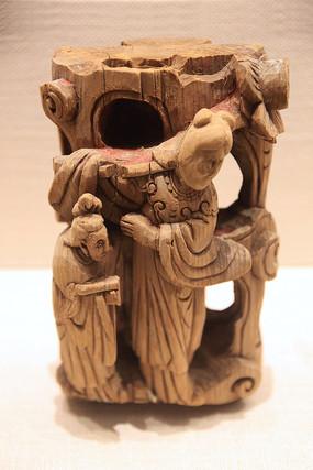 清代人物木雕构件