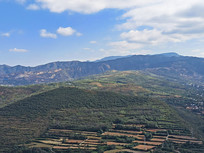 绿色山岭自然风景