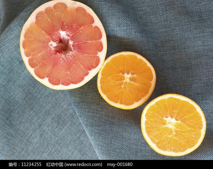 鲜果红心柚甜橙图片