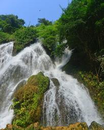 贵州黔南小七孔拉雅瀑布