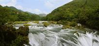 贵州天星桥银练坠潭瀑布
