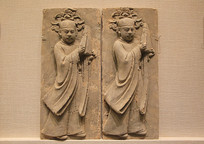 宋代浮雕持拍人物陶砖