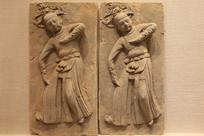 宋代浮雕舞蹈人物陶砖