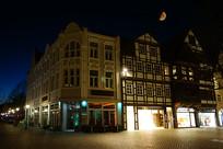 德国哈默尔恩城市夜景