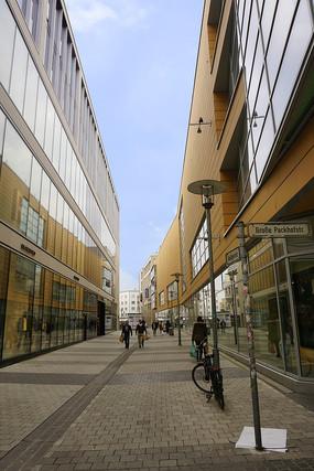 德国汉诺威市区中心商业步行街