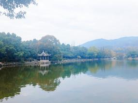 江南山水风景摄影图-东湖