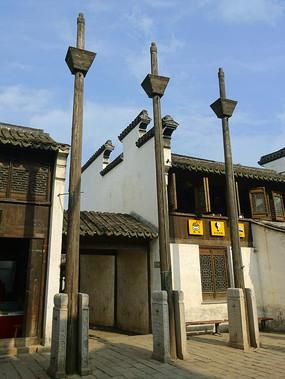 无锡惠山古镇东岳行庙旗杆