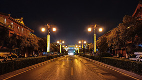 夜晚的街道景观