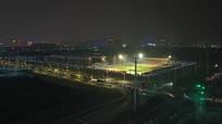 夜晚的城市远眺景观