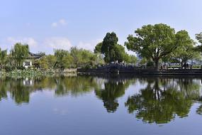 无锡蠡园的园林水景