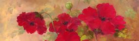 虞美人花卉油画
