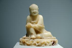 白芙蓉石罗汉坐像