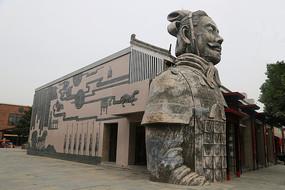 兵马俑秦俑雕像房屋