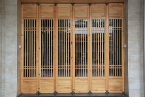 木雕六扇门