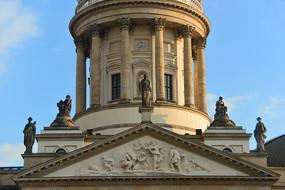 柏林御林广场法国大教堂山墙