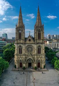 大尺寸竖幅广州石室圣心大教堂