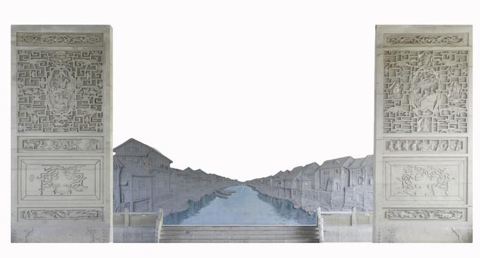 老成都民俗公园-旧时成都浮雕