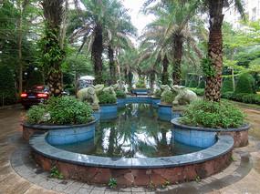 海南文昌住宅小区热带园林景观