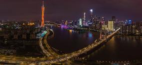广州夜景全景