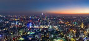 广州中轴线夜景全景