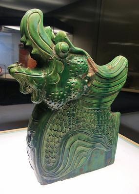 明代绿釉螭吻兽兽