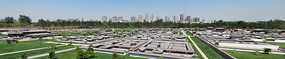 大明宫遗址公园仿古模型建筑群