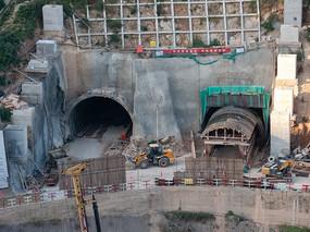 重庆巫山隧道施工场地