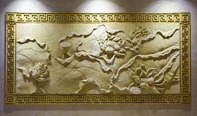 莲花主题的浮雕