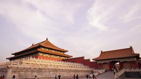 北京故宫红墙栏杆