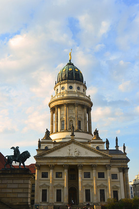 德国柏林御林广场的法国大教堂
